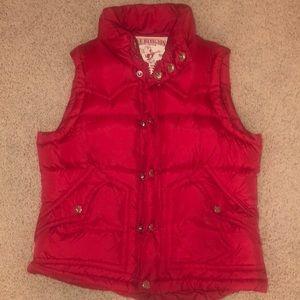 True Religion Red Down Vest -XS